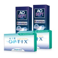 Air Optix Astigmatismo (Cx 6) x2 + Aosept 360ml x21
